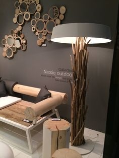 Eco Furniture, Concrete Furniture, Furniture Design, Driftwood Lamp, Deco Nature, Rustic Lamps, Wooden Lamp, Home Decor Bedroom, Country Decor