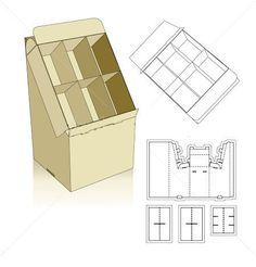 Set-up displays carton box template