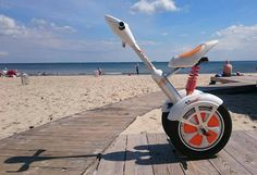 Airwheel A3 electric scooter with seat -- seaside.