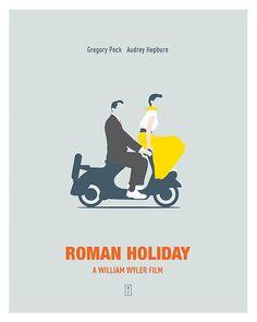 Roman Holiday, minimal movie poster