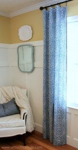 Easy, DIY, No Sew Curtain Panels - artsychicksrule.com #nosew #diy