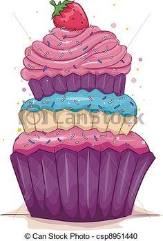 241 Mejores Imágenes De Cupcakes Dibujos Cupcake Art Cupcake