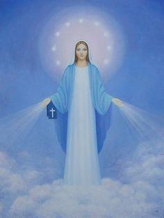 Starry Virgin Mary by Tatiana F. Light