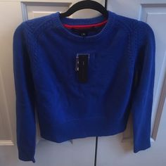 Marc by Marc jacob cropped sweater Royal blue wool cropped sweater Marc by Marc Jacobs Sweaters Crew & Scoop Necks