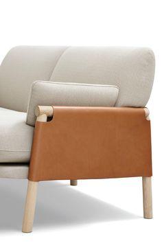 SAVANNAH, Sofa and lounge chair, Erik Jørgensen. Year Completed: 2015 Design: Monica Förster Design Studio Creative Director: Monica Förster Team: Riccardo Paccaloni #scandinaviandesign #furniture #sofa #loungechair #leather #textile #craft #design #product #interior #home #livingroom #wood #chair