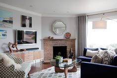 Handsome On Portola Living & Dining Room  Living  Contemporary  Eclectic  MidCenturyModern  Modern by Kari McIntosh Design