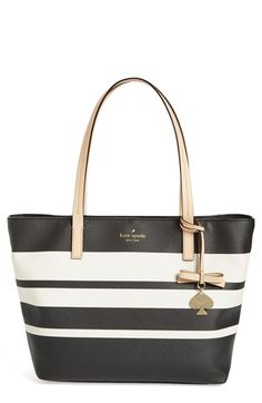 kate spade new york 'hawthorne lane - small ryan' tote in Crisp Linen/Cement available at #Nordstrom