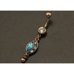 Boho Opal Belly Button Ring. Dangle Belly Piercing. Bohemian Sparkle... ($9.35) ❤ liked on Polyvore featuring jewelry, stainless steel jewelry, boho chic jewelry, blue jewelry, fake body jewelry and belly button rings jewelry