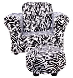 Trend Lab Club Chair and Ottoman Set, Zebra more: http://foter.com/zebra-chairs/