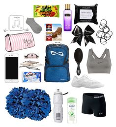 what's in my cheer bag!! by taylorashley14 on Polyvore featuring polyvore, beauty, Dove, Victoria's Secret, Inglot, Happy Plugs, L. Erickson, Monki, NIKE and M&Co