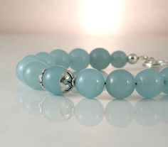 Aquamarine Jade Healing Protective by PlatiniFineJewellery on Etsy, $27.00