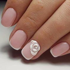 Amazing Tips For The Best Summer Nails – NaiLovely Cute Nail Art, Beautiful Nail Art, Gorgeous Nails, Cute Nails, Pretty Nails, French Nails, Bridal Nail Art, Pearl Nails, Nail Time