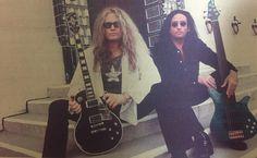 John Sykes & Marco Mendoza young guitar magazine March 1998