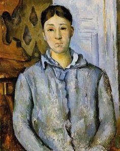 portrait de `madame` cézanne - (Paul Cezanne)