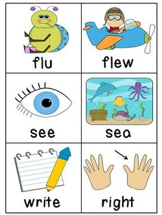 """Homophones Matching Literacy Station with recording sheet -- could also use for Memory or a """"Write the Room"""" word hunt!"""