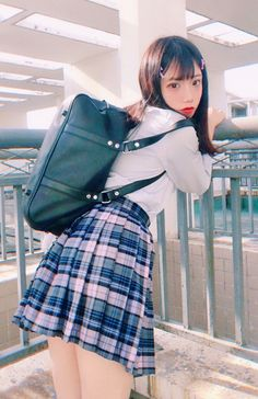Check out these Japanes theme cosplay characters. School Uniform Fashion, Japanese School Uniform, School Uniform Girls, Student Fashion, Girls Uniforms, School Girl Japan, Japan Girl, Cute Japanese Girl, Girls Gallery