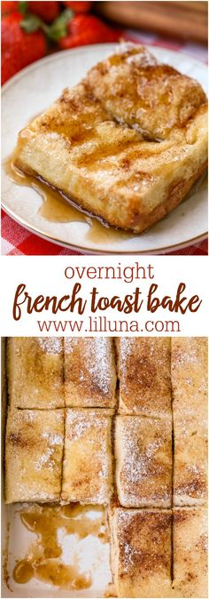 French Toast Bake - this layered breakfast recipe has layers of Texas toast cinnamon sugar brown sugar and eggs!Overnight French Toast Bake - this layered breakfast recipe has layers of Texas toast cinnamon sugar brown sugar and eggs! What's For Breakfast, Breakfast Items, Breakfast Dishes, Breakfast Recipes, Birthday Breakfast, Breakfast Casserole, Morning Breakfast, Birthday Brunch, Birthday Toast