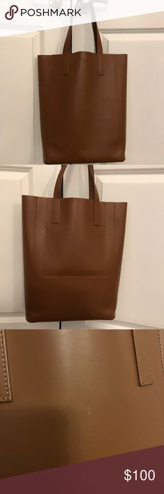 3c409381a6f8 Everlane Day Market Tote Everlane day magazine tote in cognac. A couple  small scratches