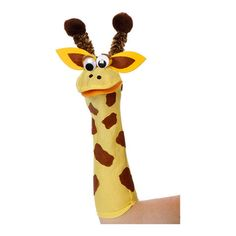 Art Wall Sock Friends Puppets Kit, Giraffe: This kit from Sock Friends Puppets includes everything you need to make our giraffe puppet including foam stickers, eyes, poms and an instruction sheet. Each kit makes 1 puppet.Giraffe Puppet Kit contains e Glove Puppets, Sock Puppets, Puppet Crafts, Sock Crafts, Projects For Kids, Crafts For Kids, Project Ideas, Giraffe Socks, Animal Hand Puppets