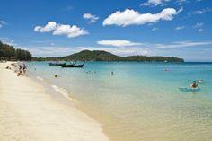 Bang Tao Beach (pretty beach, but dirty during rainy season) - Phuket, Thailand