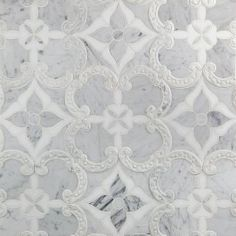 mosaic water jet stone with mirror Stone Mosaic Tile, Mosaic Tiles, Calacatta Tile, Jet Stone, Arabesque Tile, Glass Installation, Commercial Flooring, Shower Floor, Windsor