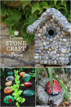 Whether you use garden stones for their natural beauty, or choose to decorate them with paints, there's all sorts of ways to create garden crafts that rock.