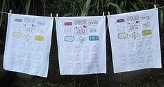 Calendar tea towel