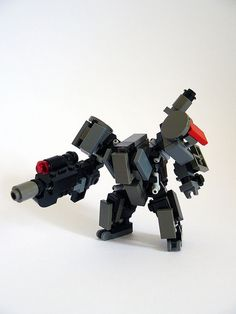 Crater Corporation Mech, front by Malcolm Craig, via Flickr