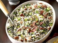 This salad makes a refreshing side dish for a special occasion meal. I take it to holiday potluck suppers and other family gatherings. People enjoy the combination of flavors, and I like that it can be made ahead. Rice Side Dishes, Food Dishes, How To Make Salad, Food To Make, Christmas Fruit Salad, Make Ahead Salads, Easy Salads, Rice Salad Recipes, Cooking Wild Rice