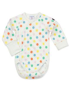 Babies Polka Dot Wrap Around Bodysuit