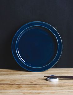 日本 amabro 手工彩釉陶器食盤 瑠璃
