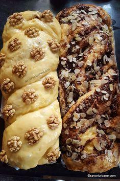 cozonaci cu nuca sau ciocolata impletiti Sweets Recipes, Easter Recipes, Baby Food Recipes, Cake Recipes, Cooking Recipes, Artisan Food, Romanian Food, Pastry And Bakery, Dessert Drinks