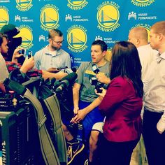 """David Lee back at #Warriors HQ today: """"Physically I'm 100%... I've had very little or no pain coming back from surgery."""""""