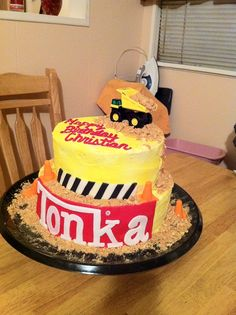 tonka cake, I'm going to attempt to make this for Gunners birthday