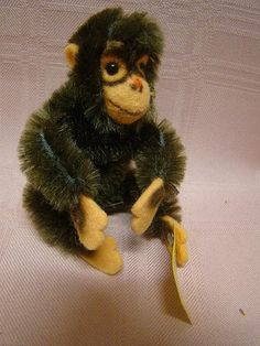 Vintage German Steiff - Jocko (#2) - 3 Inches, Button and Yellow Tag.