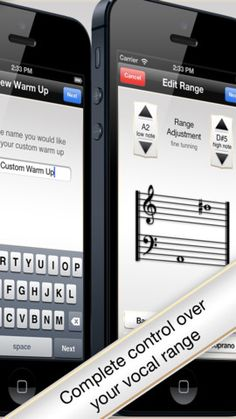 Vocal warm-up app for iPod touch and iPhone. $3.99