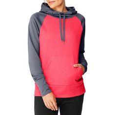 Hanes Sport Women's Performance Fleece Pullover Hoodie, Size: 2XL, Gray
