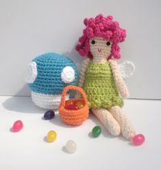 Flower Fairy & Mushroom- Happy Birthday/Easter Amigurumi by Crocheting Crab