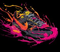 Nike: Put it on Wax by Olivier Lutaud, via Behance Supreme Iphone Wallpaper, Live Wallpaper Iphone, Fullhd Wallpapers, Cool Nike Wallpapers, Sneakers Wallpaper, Hypebeast Wallpaper, Sneaker Art, Basketball Art, Graffiti Art