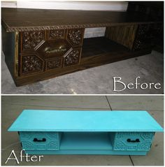 Vintage Table Before and After