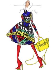 J.Larkowsky Illustration, Versace