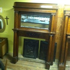American Antique Fireplace Mantle Antique Fireplace Surround ...