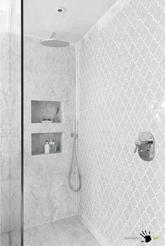 Arabesque wall tiles