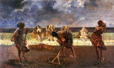 Raking Hay (Grabiace siano) - Jacek Malczewski - 1890