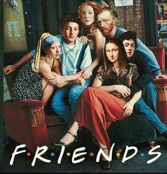 #art #collage #friends #faces