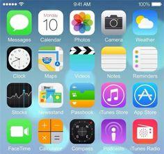 Lộ ảnh chụp màn hình IOS 8 trên iPhone 6
