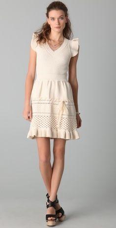 RED Valentino Sleeveless Knit Dress - StyleSays