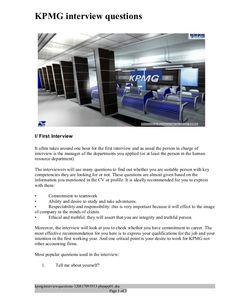 Kpmg intern cover letter