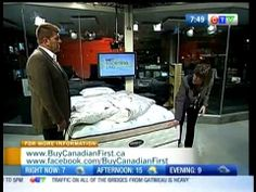 Buy Canadian First on CTV's Morning Live Ottawa: A Canadian Bedroom - September 2011 Ottawa, September, Canada, Tv, Bedroom, How To Make, Stuff To Buy, Products
