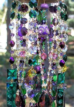 Unique Wind Chimes | ... Hummingbirds Antique Crystal Wind Chime | Sheris Crystal Designs